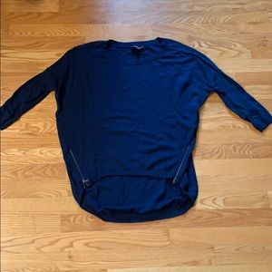Express 3/4 sleeve high low sweater